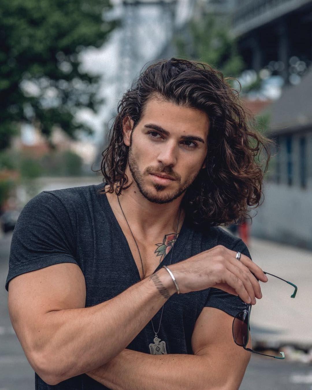 Enrico Omri Ravenna Enrico Ravenna Long Curly Hair Men With Long Hair Long Hair Inspiration Cur Guy Haircuts Long Long Hair Styles Men Wavy Hair Men