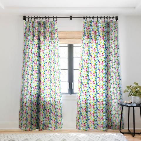 Jacqueline Maldonado Dye Ovals Vibrant Sheer Window Curtain Curtains Trending Decor Deny Designs