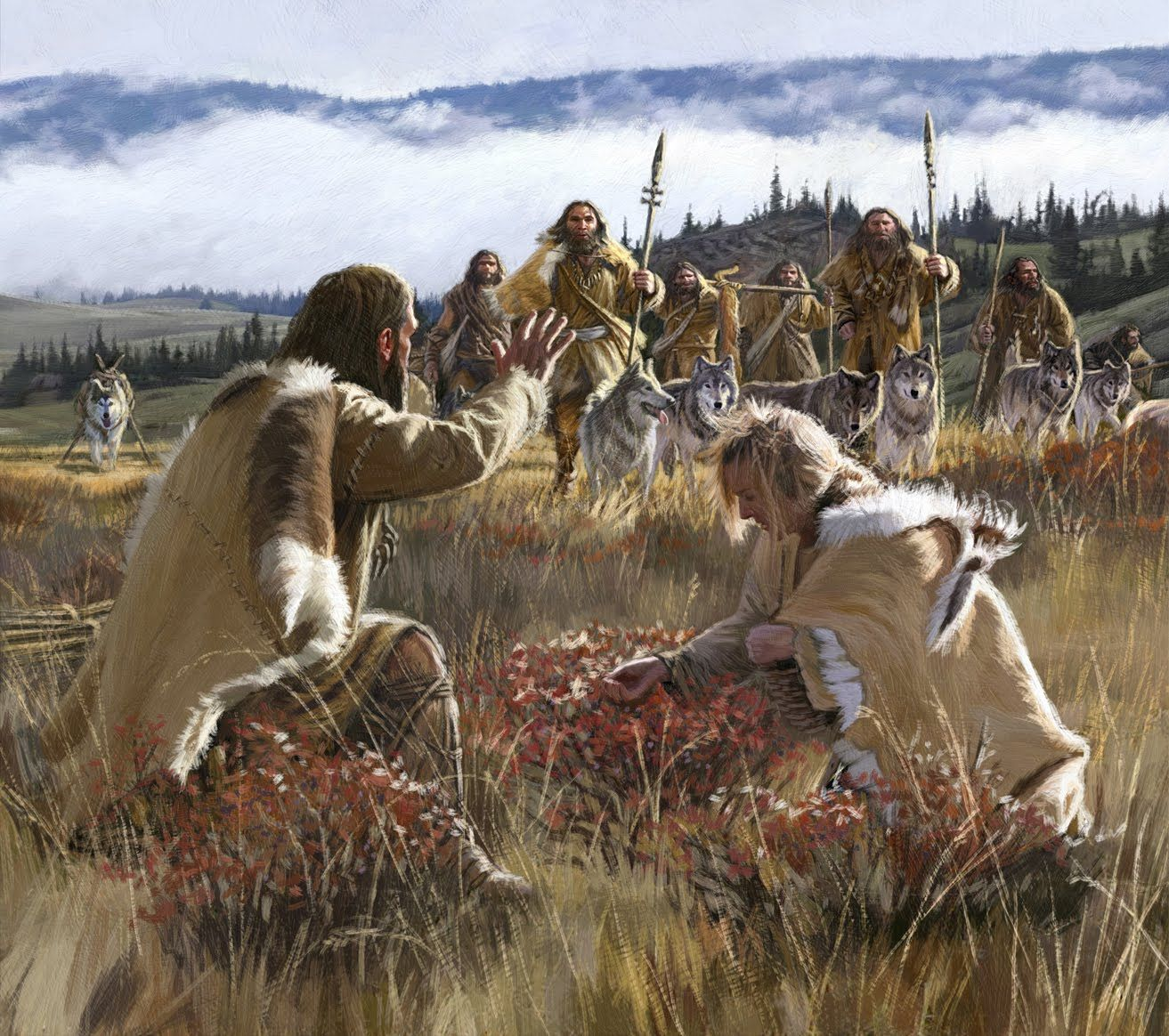 Hunter Gatherers Farming Dan Burr Illustrator New Painting