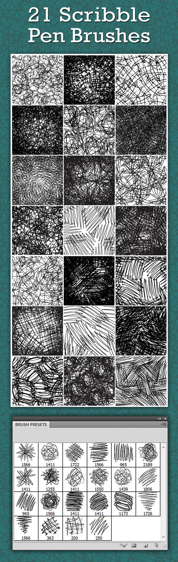 Scribble pen brushes photoshop brushes • download ➝