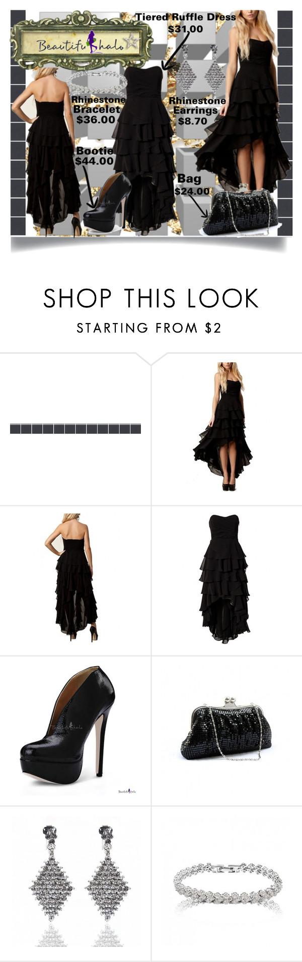 Beautifulhalo black ruffled dress