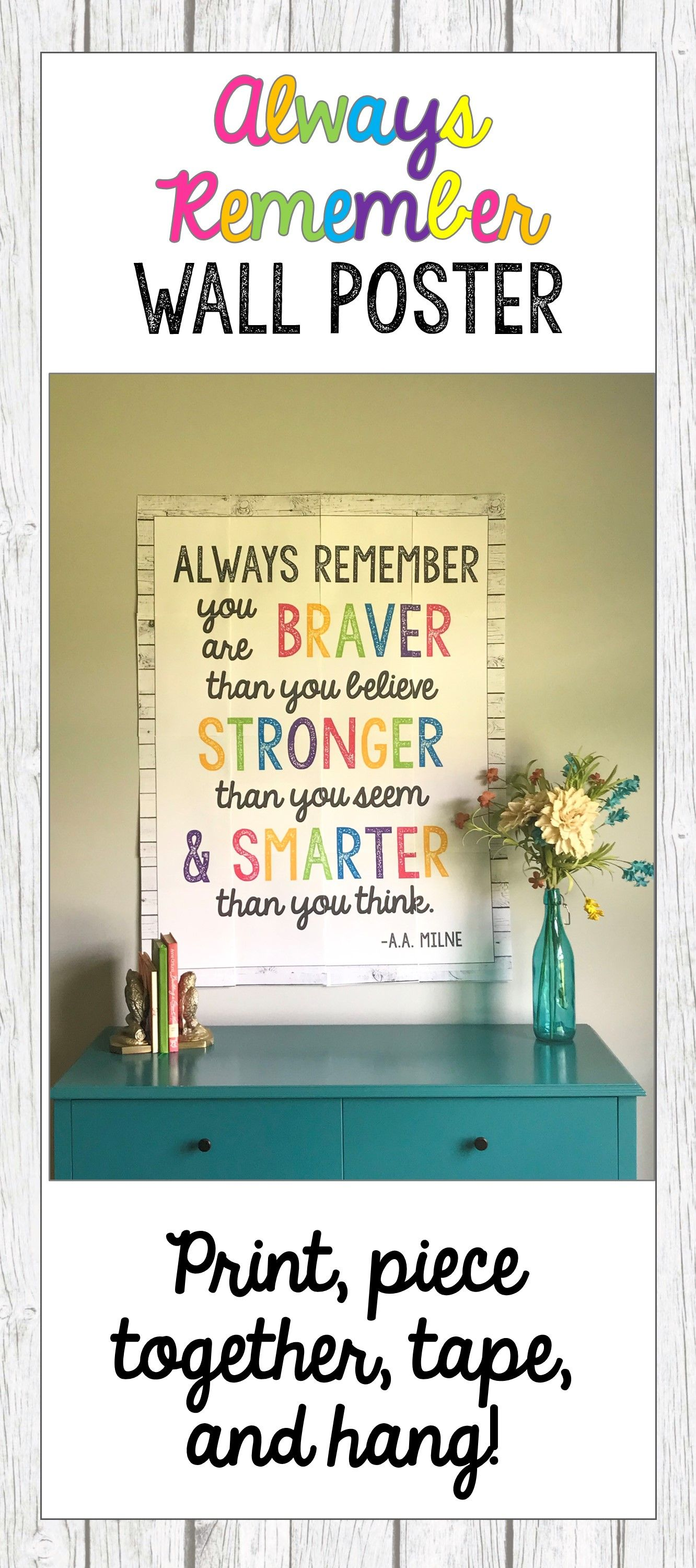 Always Remember Wall Poster | A Little This, A Litte That ...
