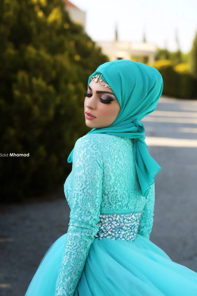 Beautiful Hijab styles for wedding. #Hijab #bride | Muslim Bridal ...