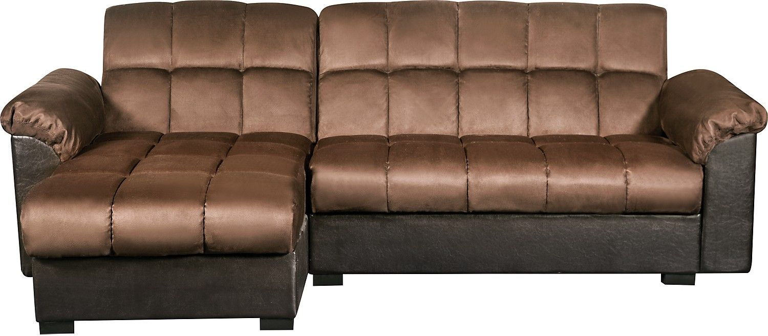 Billie 2 Piece Storage Sofa Bed With Chaise The Brick