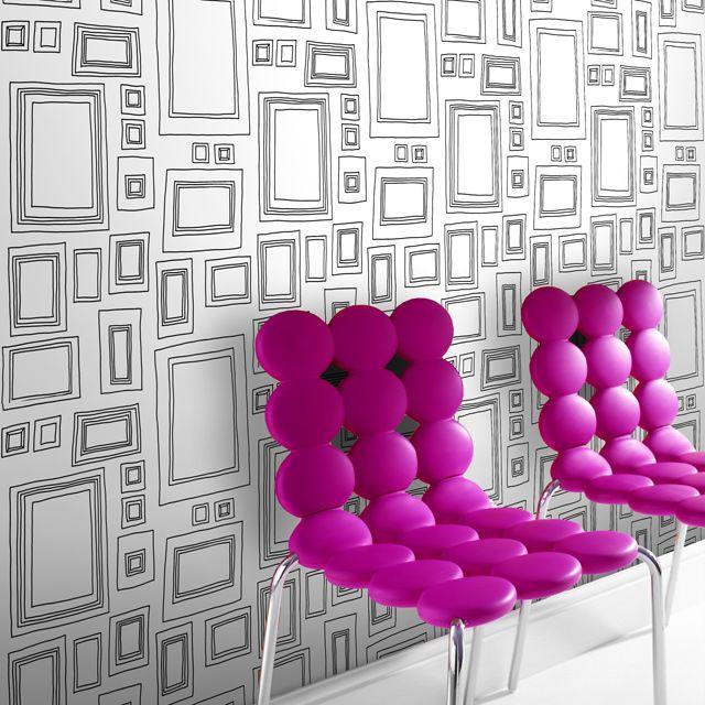 papier peint graham brown frames noir rev tements muraux pinterest papier peint papier. Black Bedroom Furniture Sets. Home Design Ideas