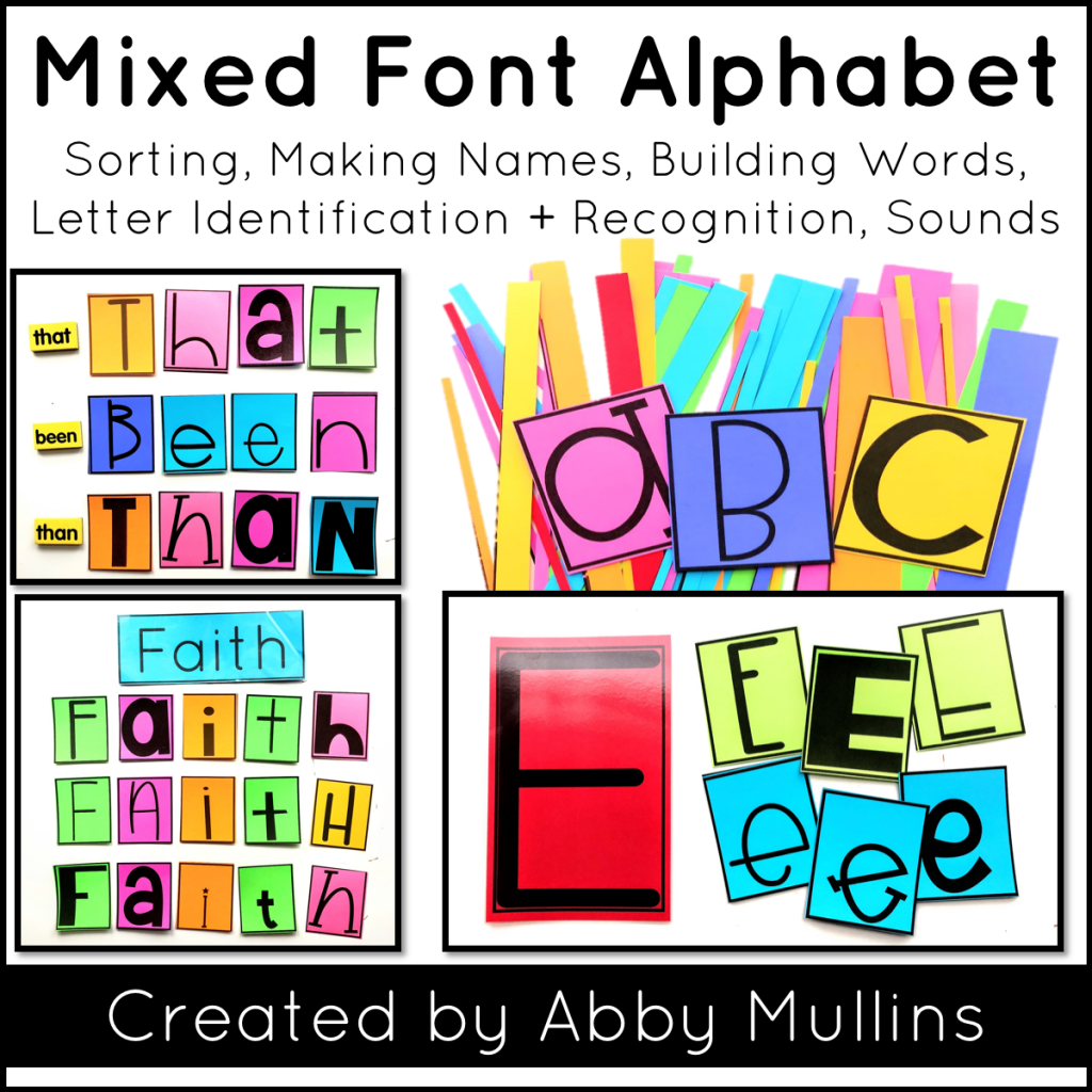 Mixed Font Alphabet Activities