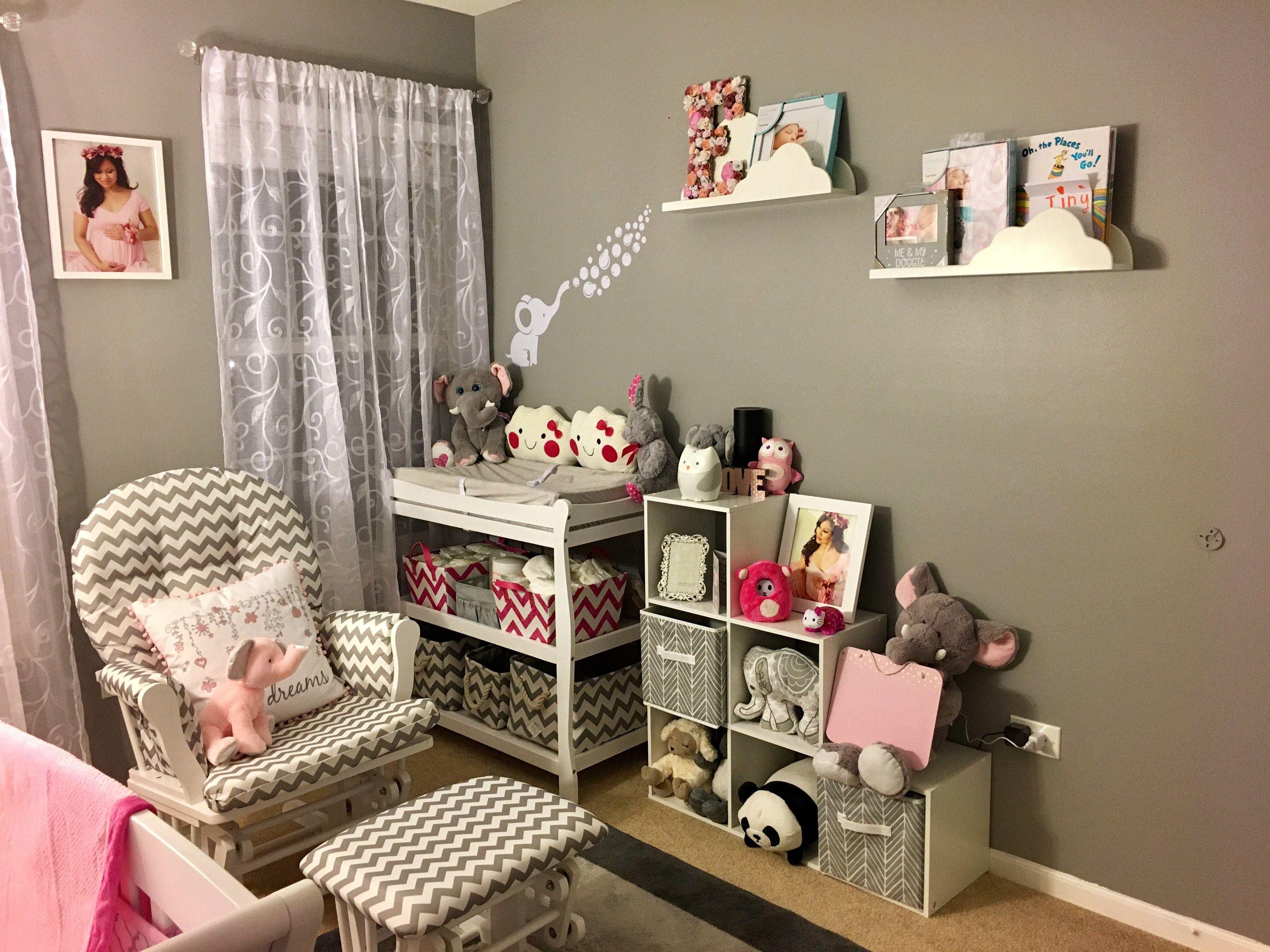 gray walls chevron glider wayfair pink elephants white cloud gray walls chevron glider wayfair pink elephants white cloud shelves