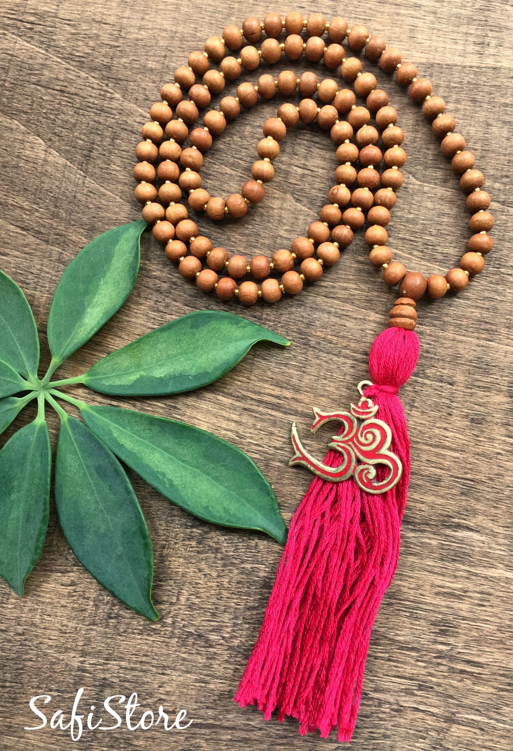 Aromatic Sandalwood 108 Beads Mala Bead Necklace / Reiki, Yoga