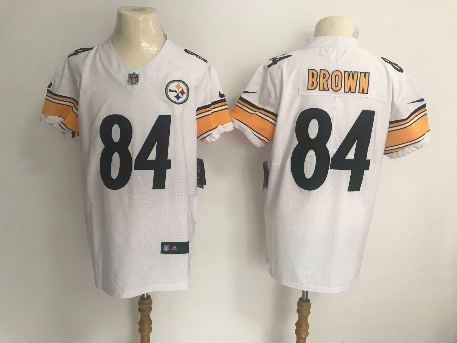 nike steelers 84 antonio brown white mens stitched nfl vapor untouchable elite jersey