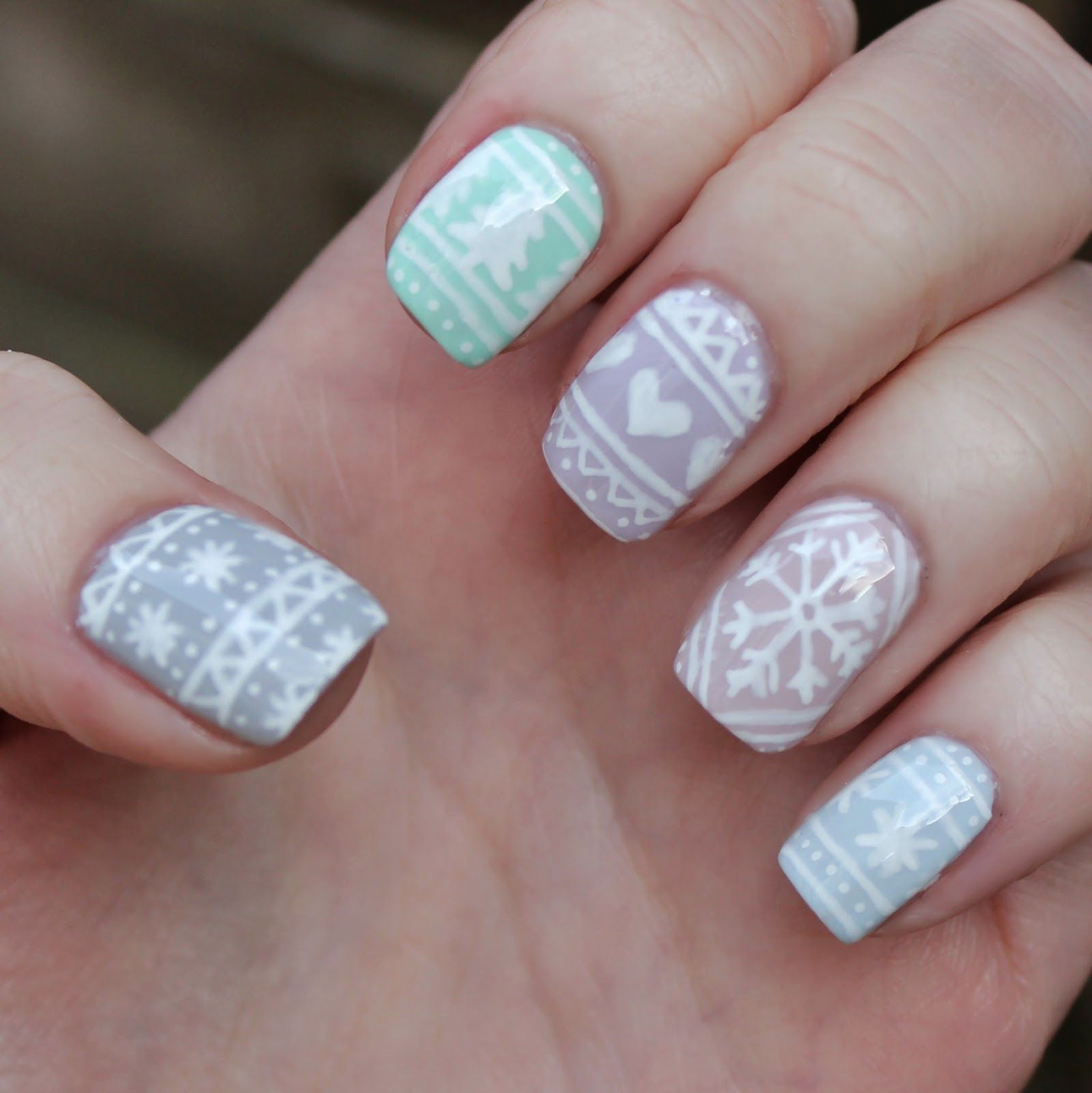 Dahlia Nails Pastel Jumper Dreams Nail It Pinterest Dahlia