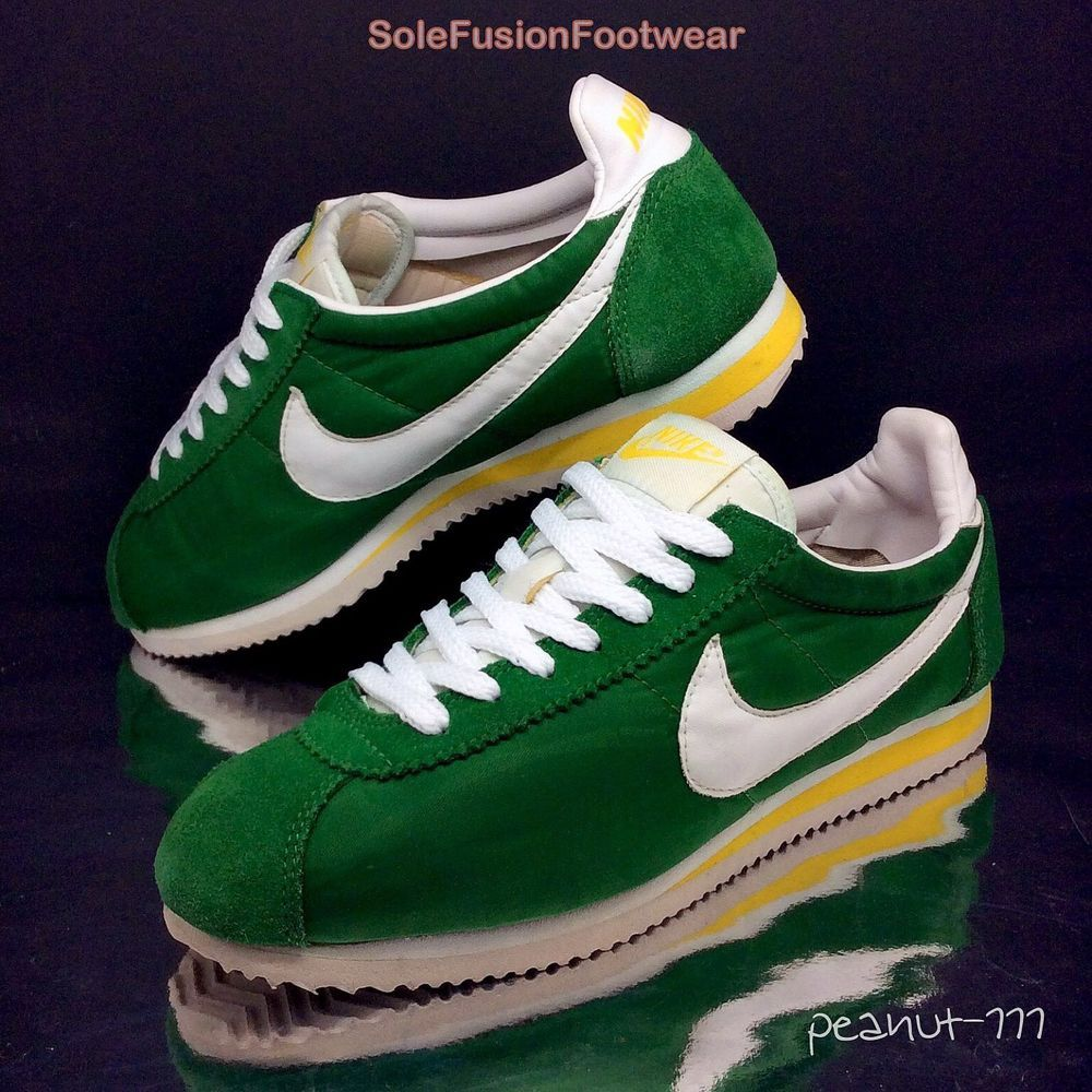34c2b052ae6c NIke Mens Cortez Green Yellow Trainers sz 7 70s Retro Running Sneaker US 8  EU 41 in Clothes