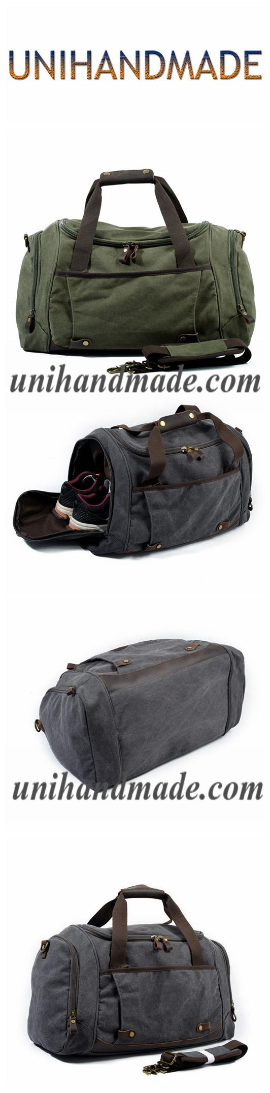 Black Leather Duffle Bag  Men Small Shoulder Travel Weekender Gym Sports Carry On Handmade Overnight Clothes Holdall Custom Engraved Gift