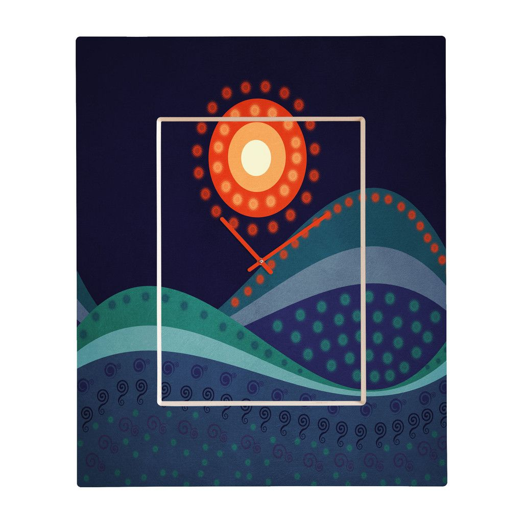 Viviana Gonzalez Summer Night Rectangular Clock | DENY Designs Home Accessories