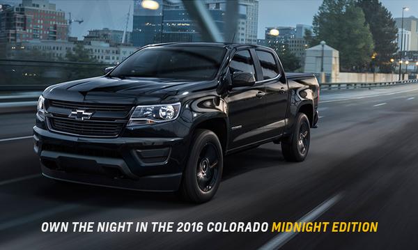The Night Will Belong To You In The 2016 Chevy Colorado Midnight Edition Chevrolet Colorado Chevy Colorado Z71 Chevy