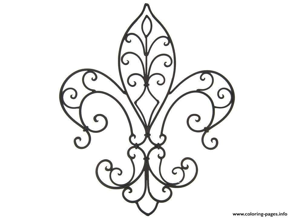 Fleur De Lis Coloring Pages Flor De Lis Tattoo Flor De Lis Dibujo Tatuajes Flor De Liz