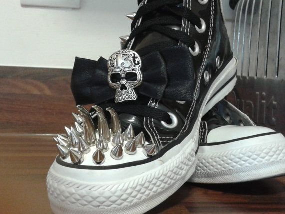 7851324b0f6 Gothic converse shoes.