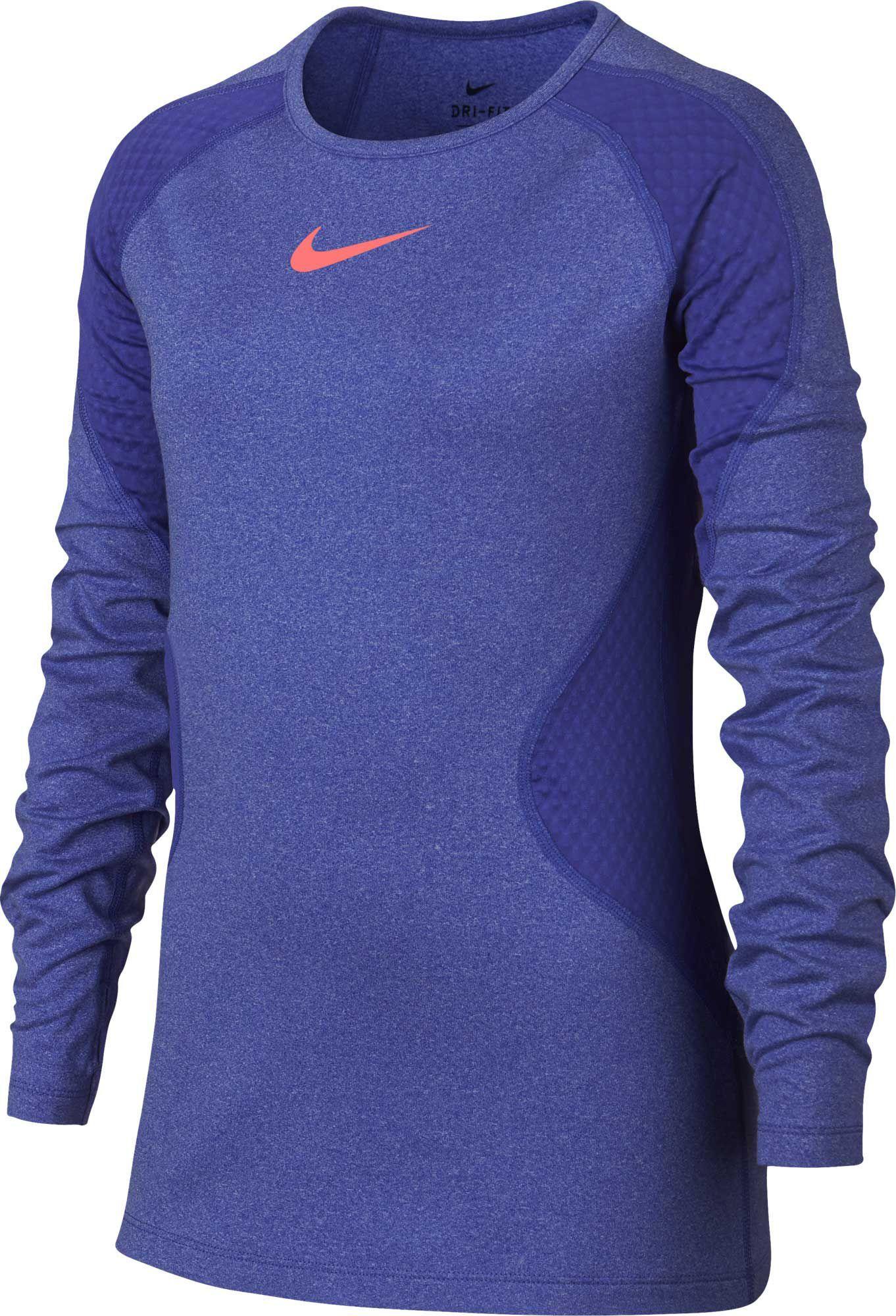 0eef4b5168110 Nike Girls  Warm Dri-FIT Long Sleeve Training Shirt