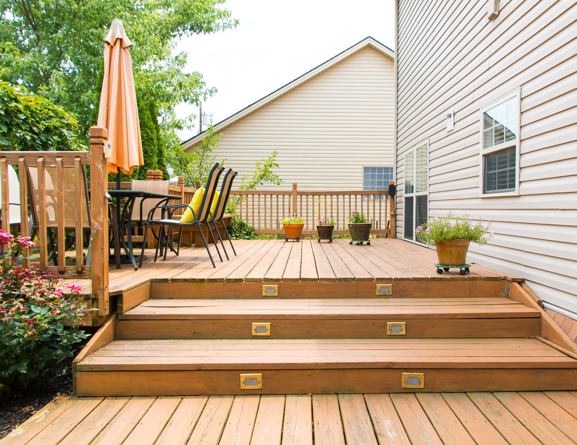 Deck Installation Adding Steps To An Existing