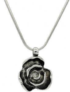 Vintage Style, Plain,  Stylish Rose Bud Flower Pendant  / Necklace - Great Gift Idea (1)