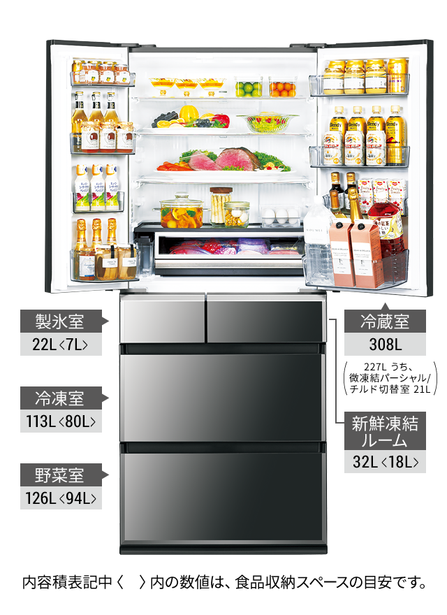パナソニックのパーシャル搭載 冷蔵庫nr F611wpv ガラスの素材感が際立つ ラグジュアリーな大容量601l 家 冷蔵庫 冷凍冷蔵庫