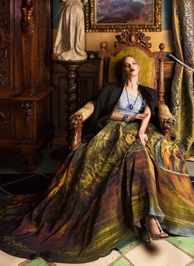 Extraordinary Adorned Gowns Painted Like Classical Art