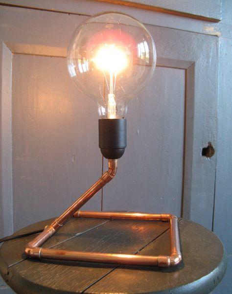 lampe design cuivre par lumineusesidees sur etsy corpuri. Black Bedroom Furniture Sets. Home Design Ideas