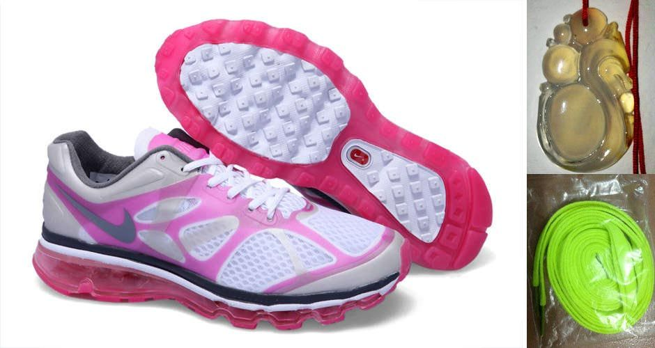 196784cdf749 Chalcedony Dragon Volt Lace Womens Nike Air Max 2012 White Pink Flash  Silver Grey Shoes