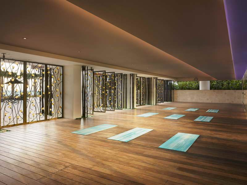 Yoga Studio Decorating Ideas With Fancy Design