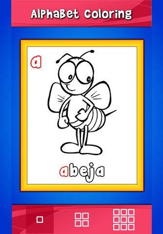 Free app color the Spanish alphabet Spanish teacher