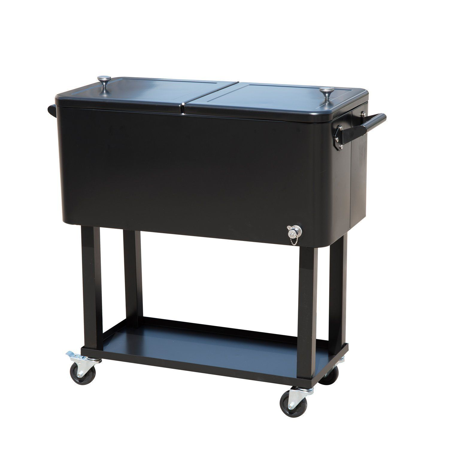 Amazon.com : Tenive 80 Quart Rolling Wheels Ice Chest Portable Patio Party  Bar