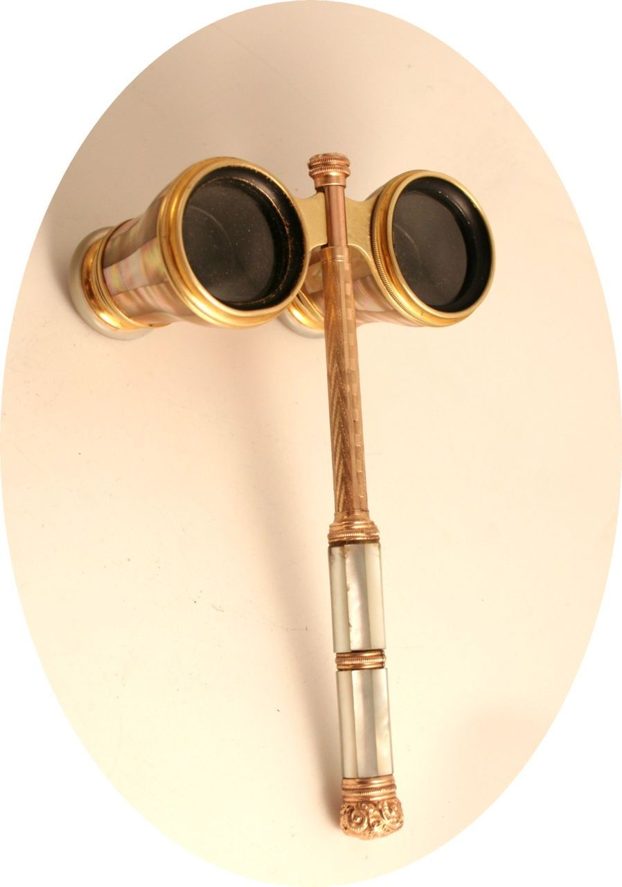 French Opera Glass Handled Magnifying Glass