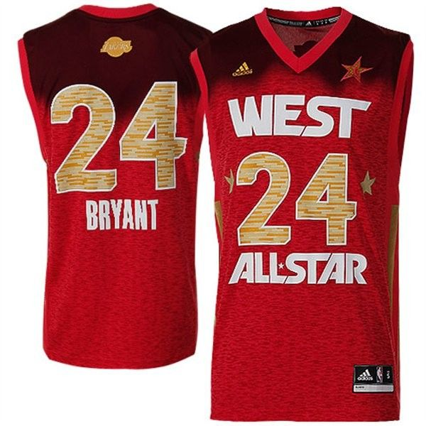 low cost 8c5f2 46184 2012 All Star Lakers #24 Kobe Bryant Red Stitched NBA Jersey ...
