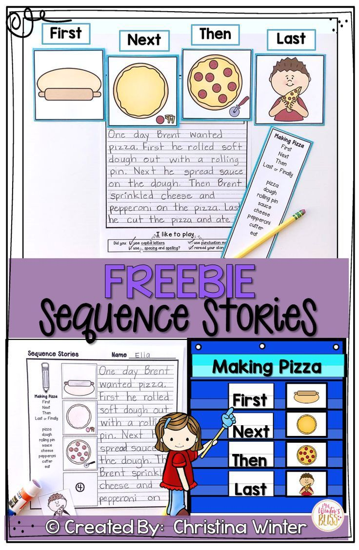 Sequence Writing Prompts Free Kindergarten Writing Classroom Writing First Grade Writing [ 1128 x 736 Pixel ]