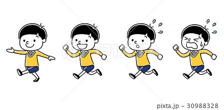子供 男の子 歩く 走るのイラスト素材 Pixta こども イラスト イラスト 歩く イラスト