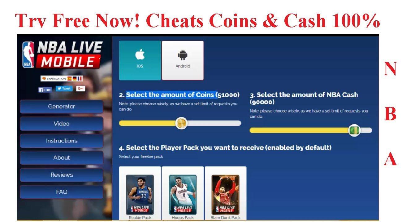 nba live mobile coins hack no human verification