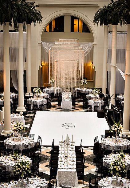Black And White Wedding Eldor Tina Jewelry Wedding Reception