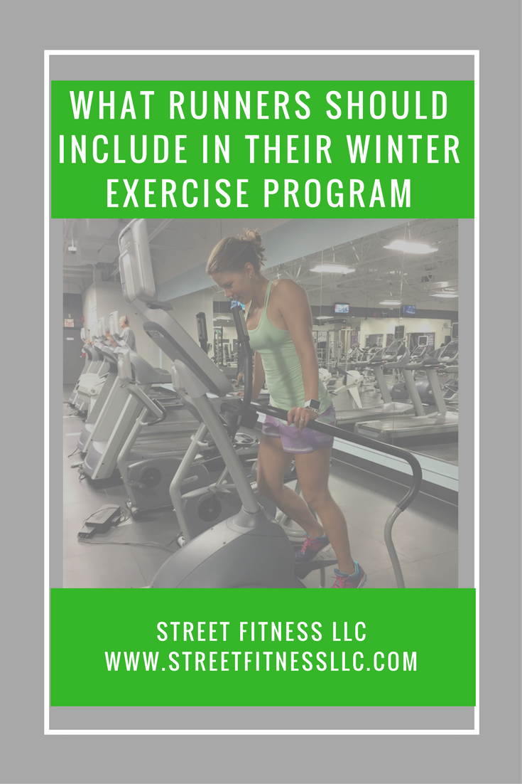 What Runners Should Include In Their Winter Exercise Program Street Fitness Llc Workout Programs Winter Workout Running Workout Plan