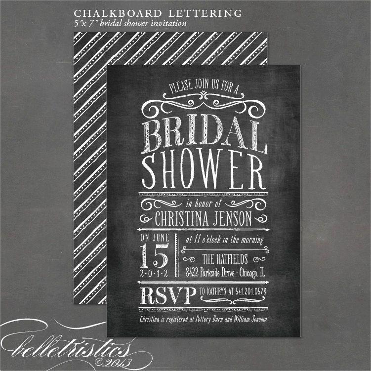 Diy Chalkboard Wedding Invitations: Chalkboard Bridal Shower Invitation