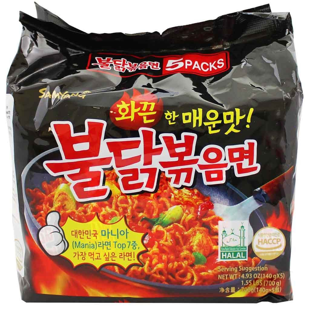 Samyang Spicy Chicken Ramen 5 49 Oz Packs 140g In 2018 A Curry Hot Logo Halal