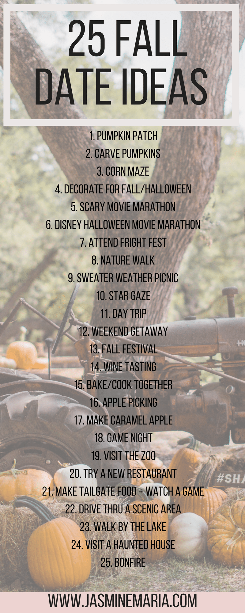 25 Fall Date Ideas - Jasmine Maria