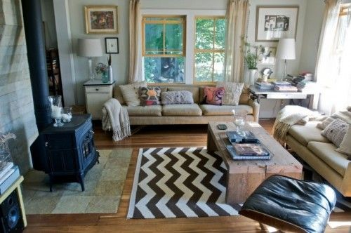 Uber cozy, eclectically chic.