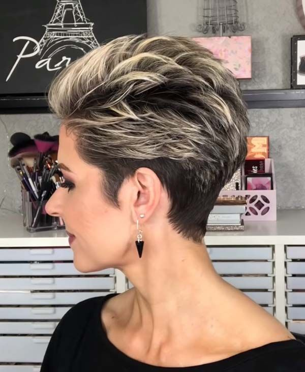 Easy Short Hairstyles for Older Women with Undercu