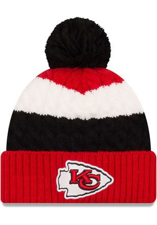 New Era Kansas City Chiefs Red Layered Up Knit Hat  a3d788459a62