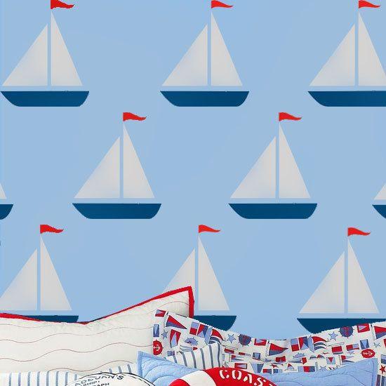 sailing boat stencil, yacht stencil, Nautical stencil, nautical ...