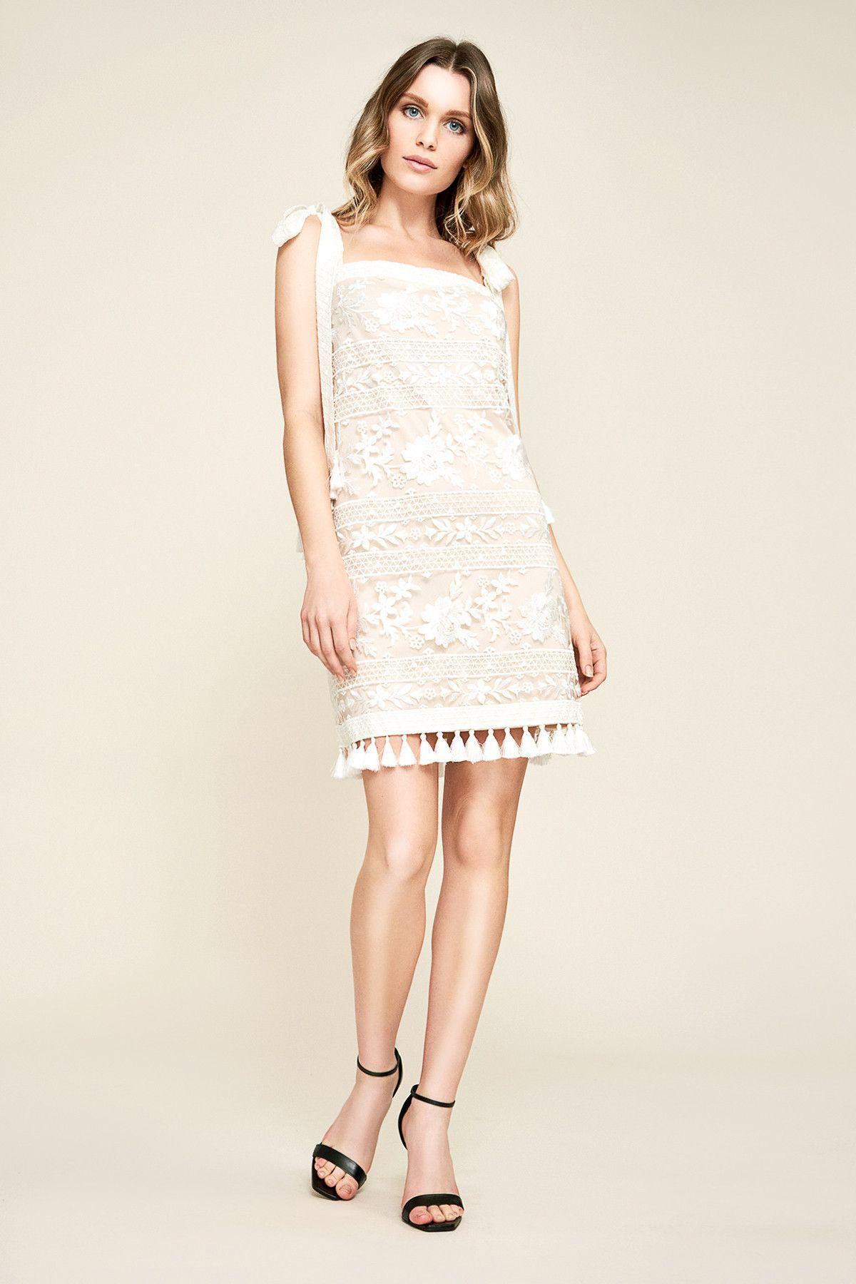 Oakley Embroidered Tassel Mini Dress Tadashi Shoji Dresses Mini Dress Reception Dress [ 1800 x 1200 Pixel ]