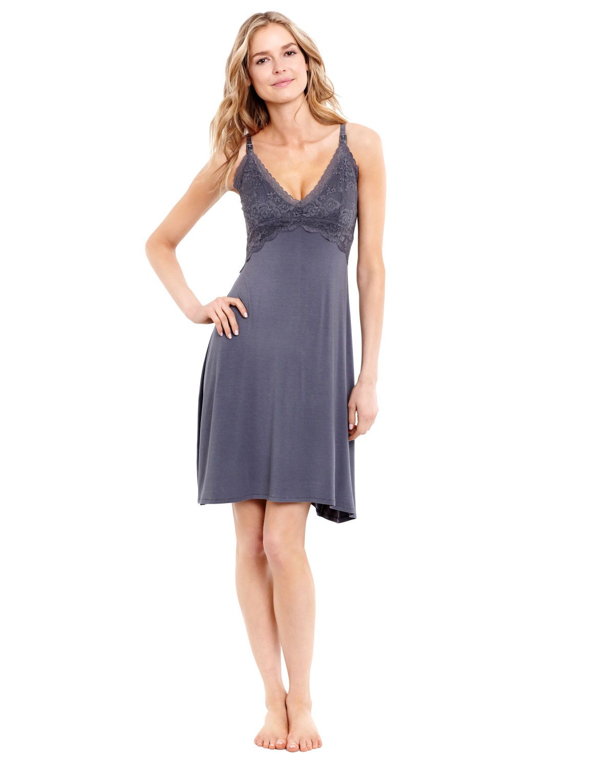 da600762187 Sleep pretty | lace nursing nightgown by Jessica Simpson available at Destination  Maternity