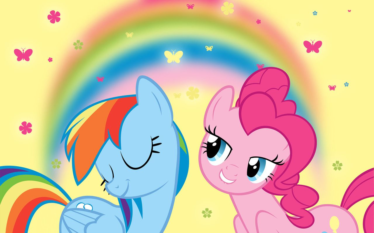 Pinkie Pie Rainbow Dash And Pinkie Pie Wallpaper 1280x800 With