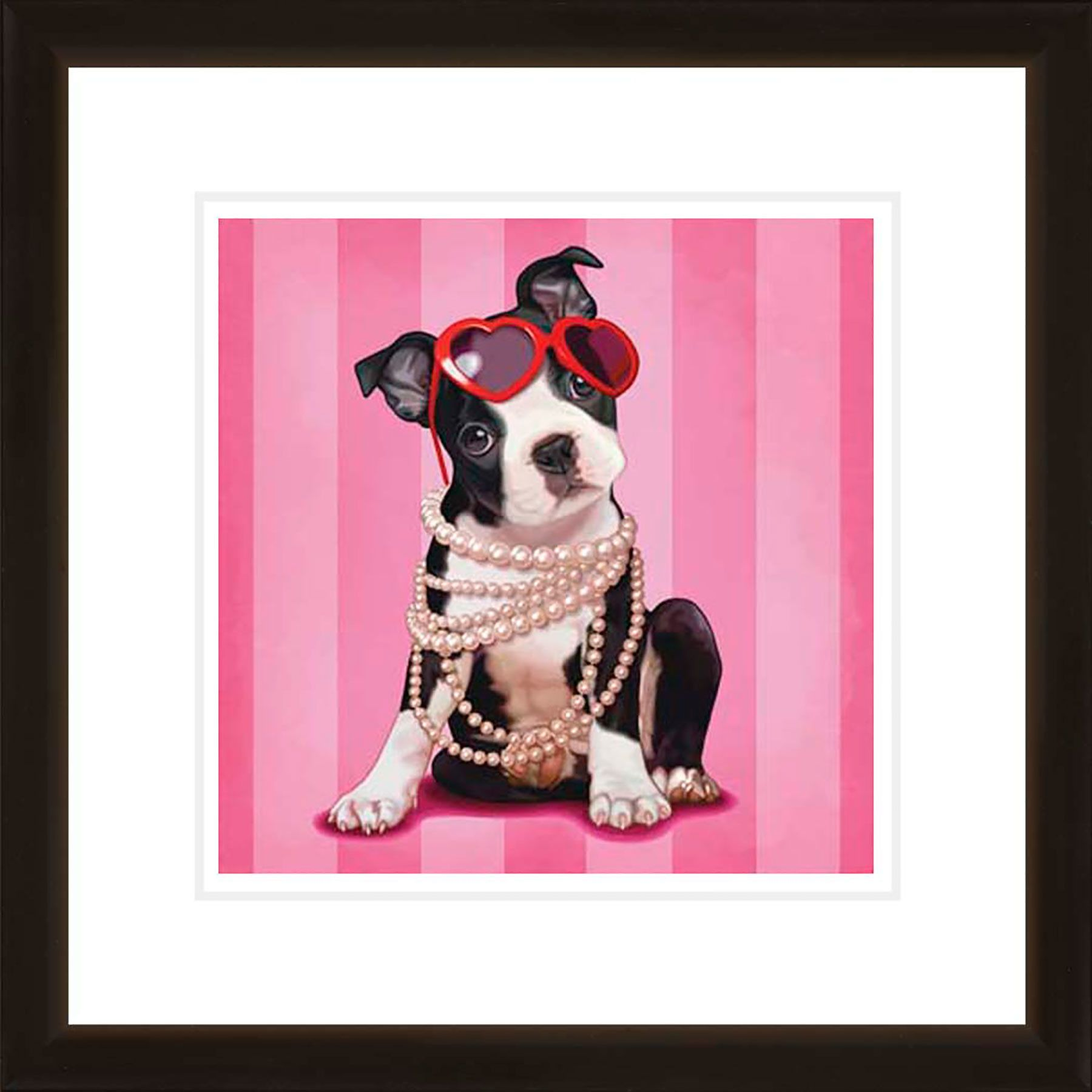 Ptm images chic pup framed graphic art wales ave decor inspiration