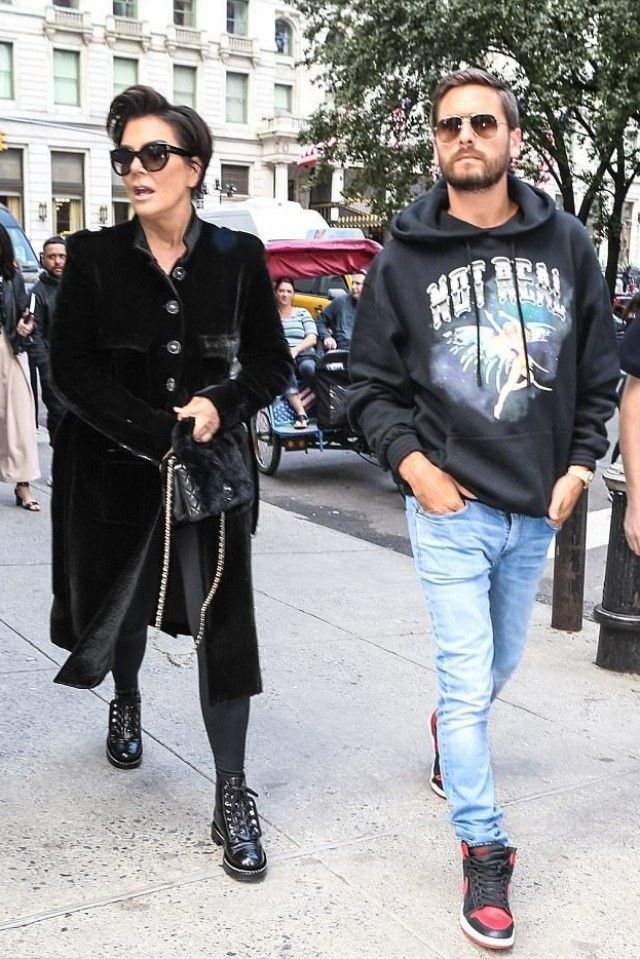 a3422a8e19e Scott Disick wearing Off-White c o Virgil Abloh Angel Not Real Hoodie