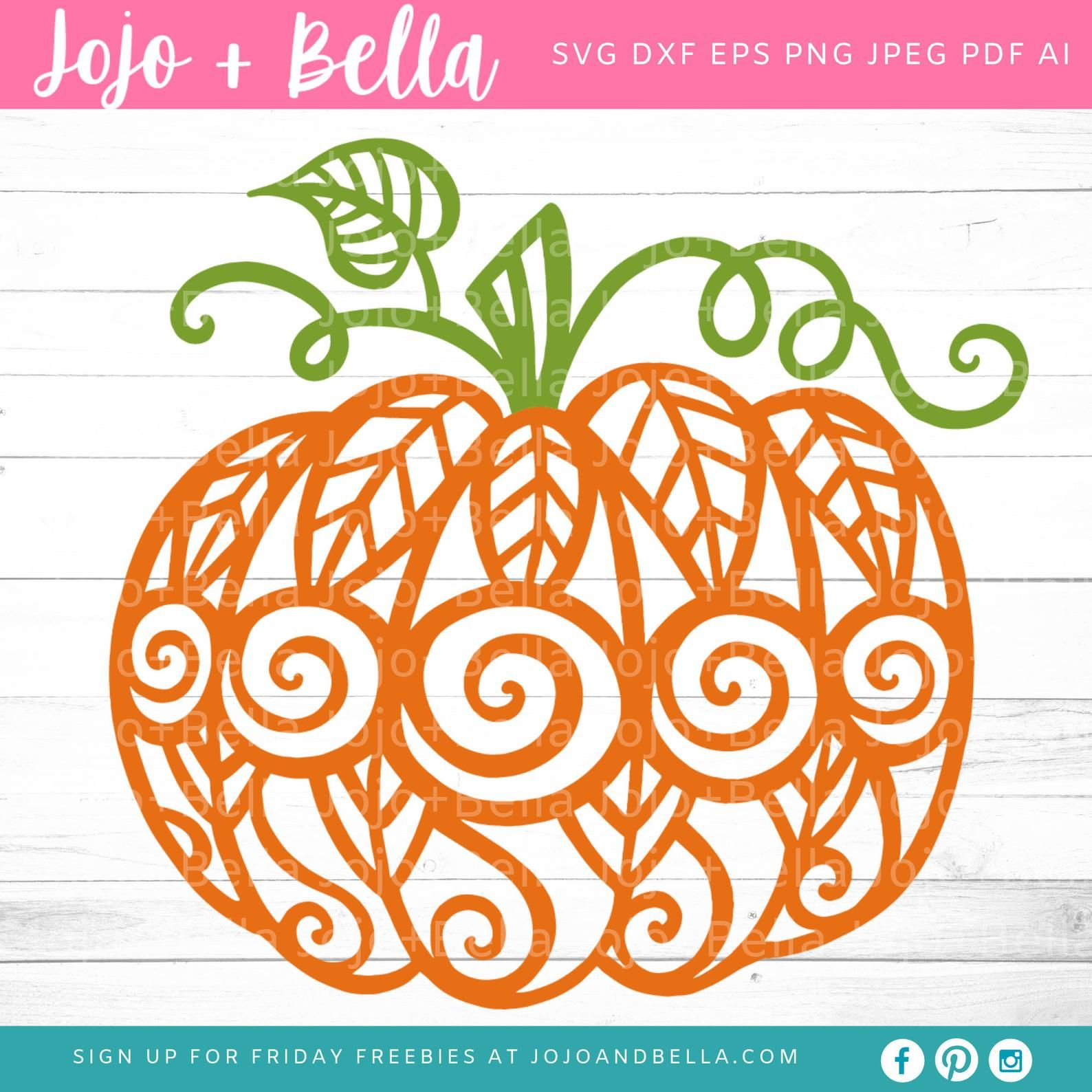 Mandala Pumpkin Svg Pumpkin Svg, Swirly Pumpkin SVG